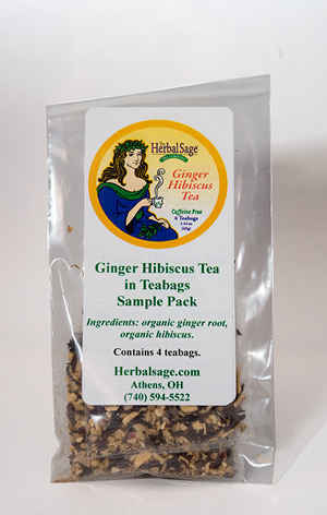 Sample Pack  Organic  Ginger/Hibiscus Tea