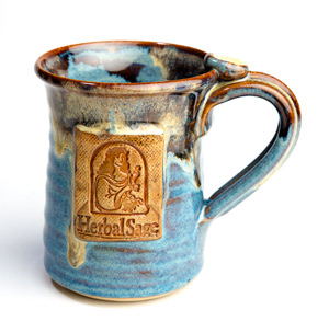 Blue Herbal Sage Tea mug