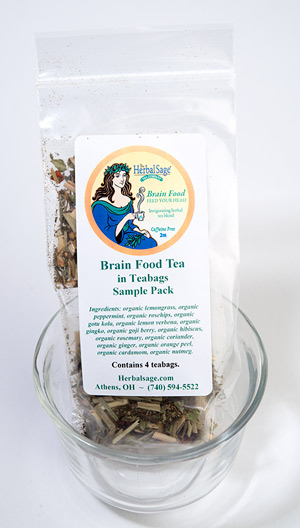 Sample Pack of Brain Food Organic Tea