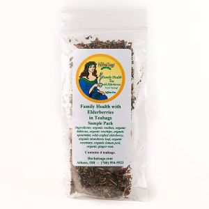 Sample Pack of Family Health Organic Herbal Tea with Elderberry